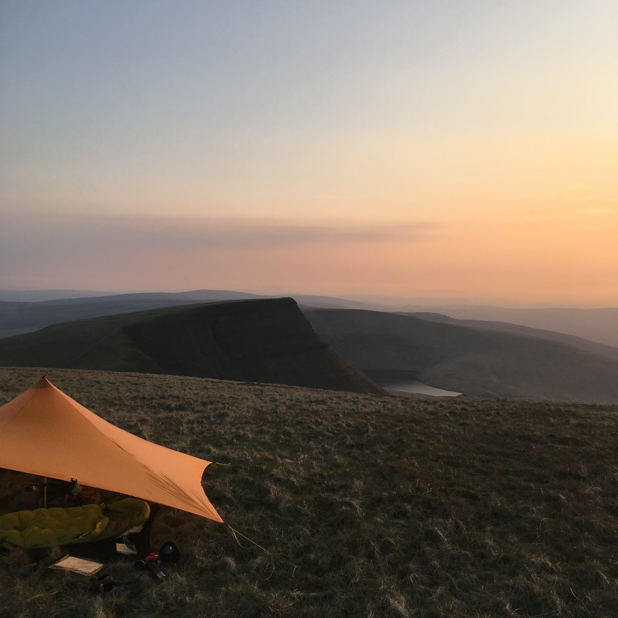 The MLD Trailstar looking out over Llyn y Fan Fach
