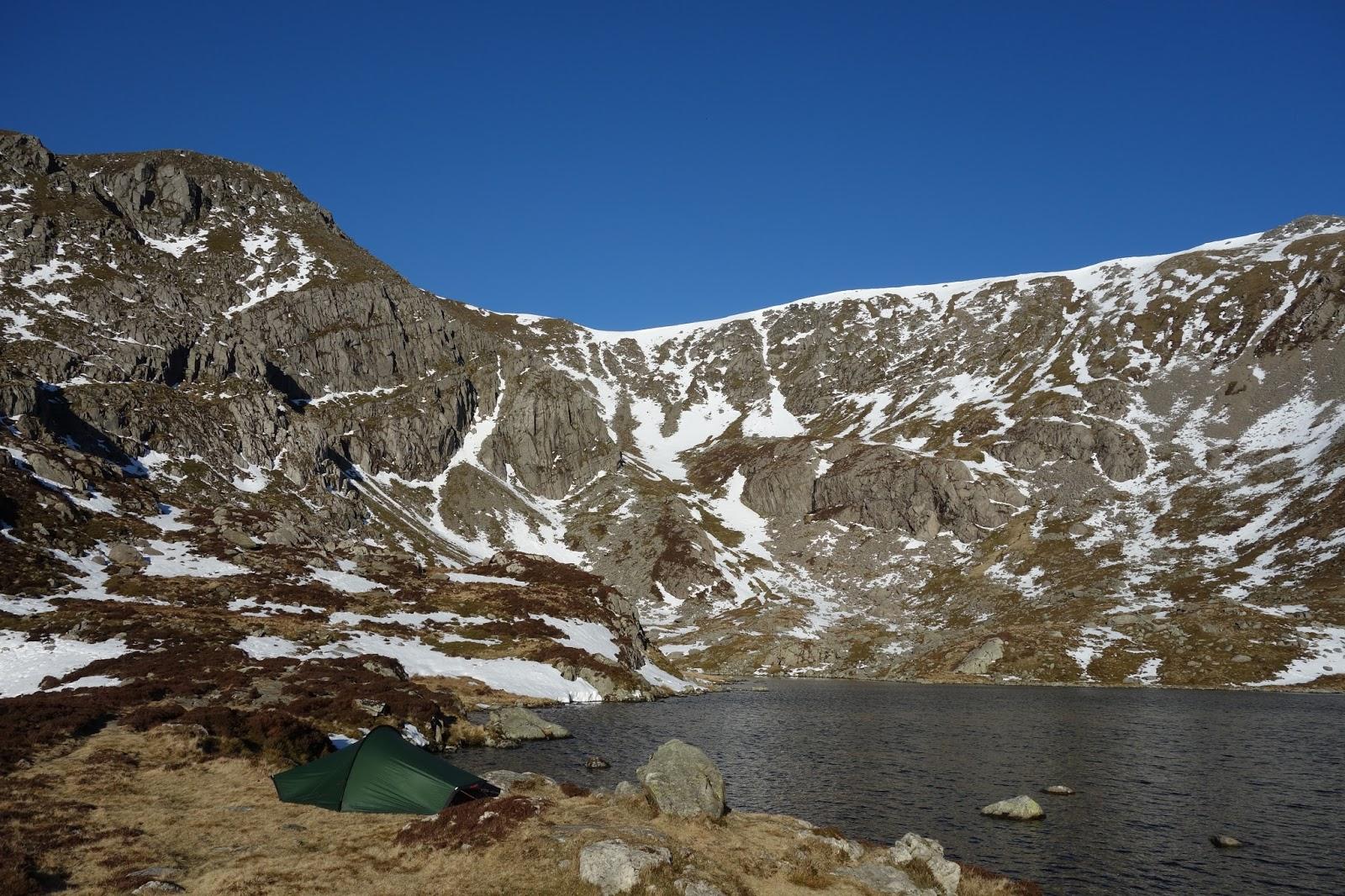 Wild camping Snowdonia Carneddau