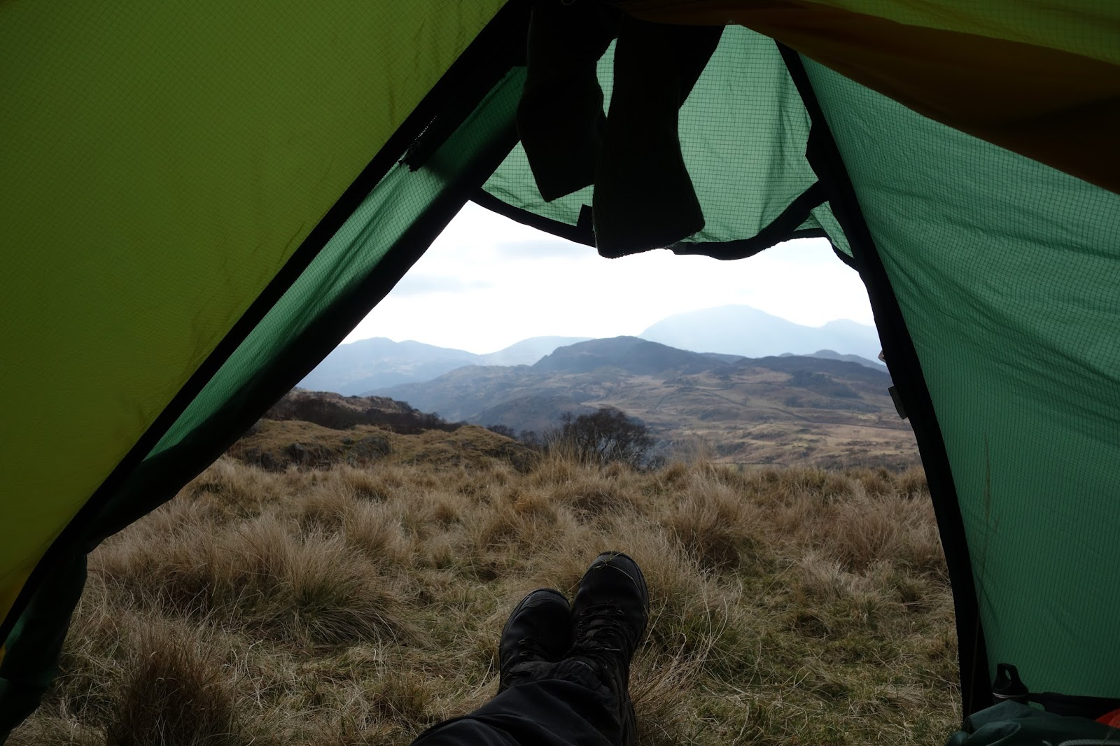 Looking back to Snowdon from the tent