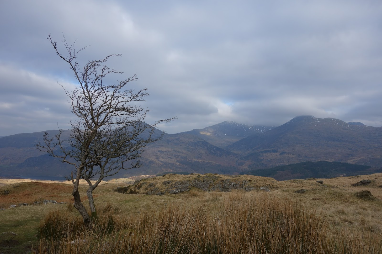 Looking back to Snowdon