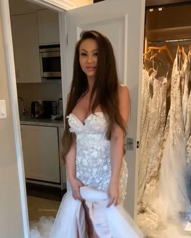 YES to this dress or NO ??....Dress try on number#3872674744 😆😍 I'm over here taking my sweet a$$ time, trying on every single dress from @nektaria_official because i love them all. Andddddd also taking my sweet a$$ time with my wedding planning. My head is on a swivel and it's so hard to choose all the plans for Wes and i. I'm so lucky he's such a patient man 🙈 but stay tuned because our wedding location is going to be amazing!!! 😍😍😍😍🔥🔥🔥 - #weddingdress #wedding #weddinginspiration #weddingdresses
