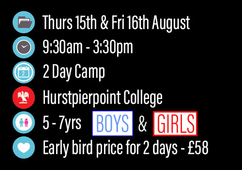 *Early bird price only available up until Friday 10th May 2019, £30 a day after that. Pick clothing sizes in booking form.