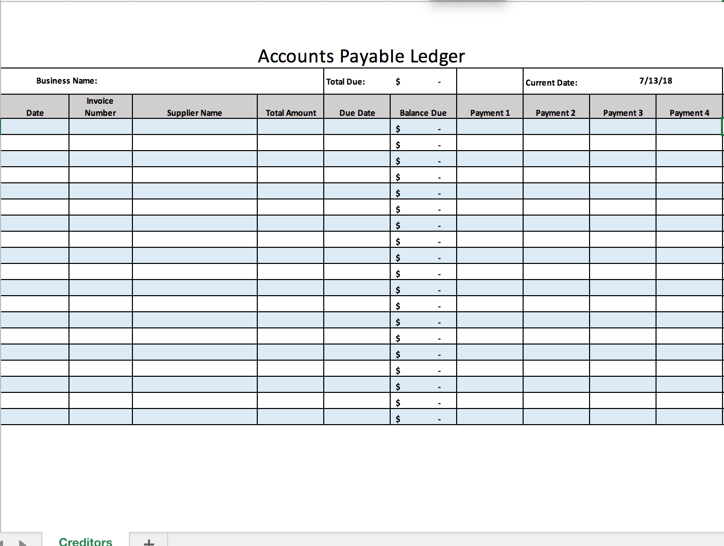 Accounts Payable Ledger