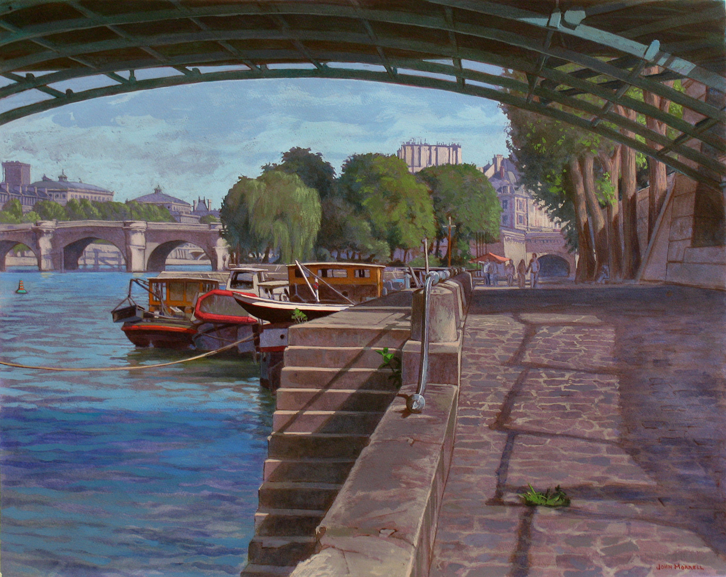 Under Le Pont Des Arts
