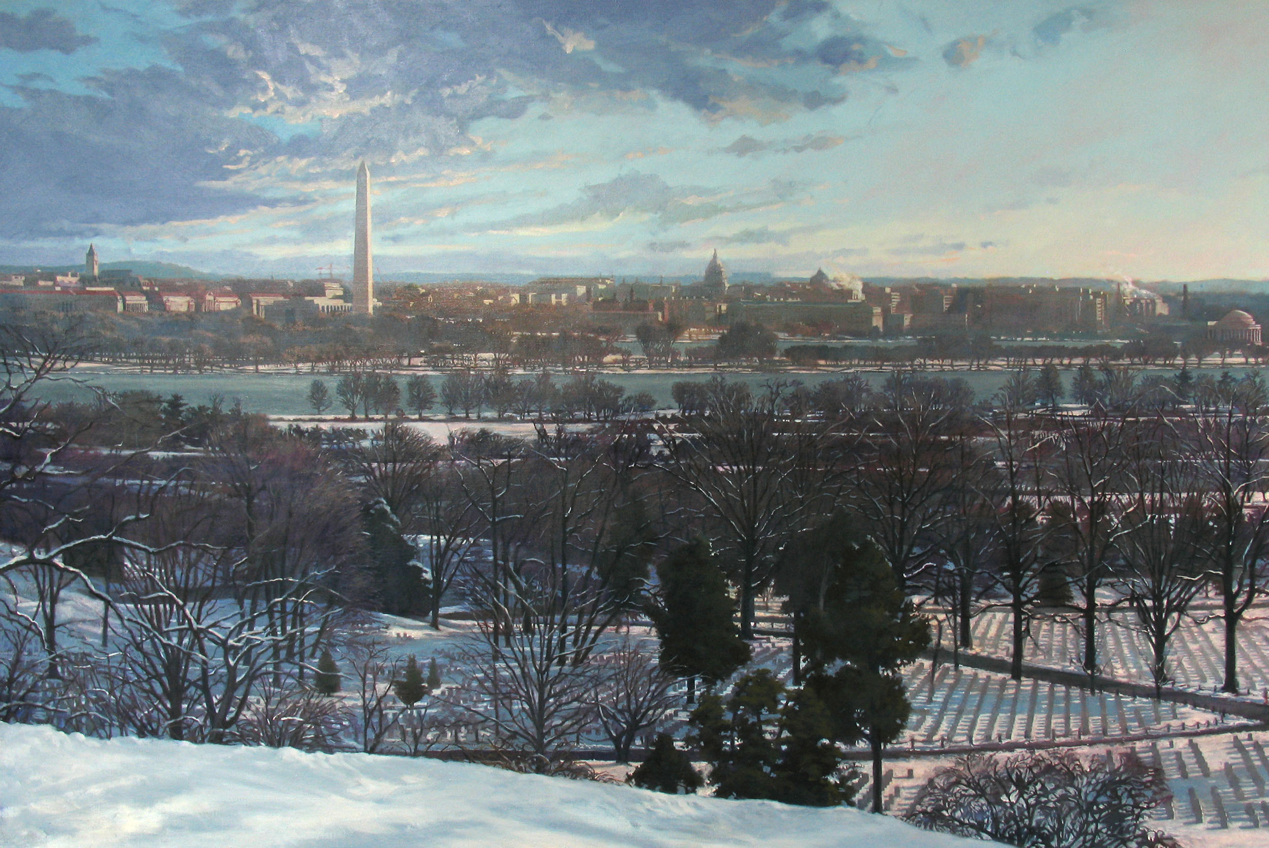 Washington View from Arlington House