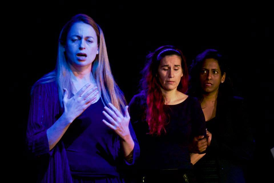 Shattered   Actors   (Left to right) Suzanne Link, Jessica von Schramm, Lahari Dunn