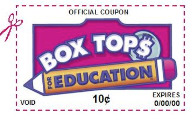 Box Tops - Don't forget to clip them, they add up to hundreds of $$$!
