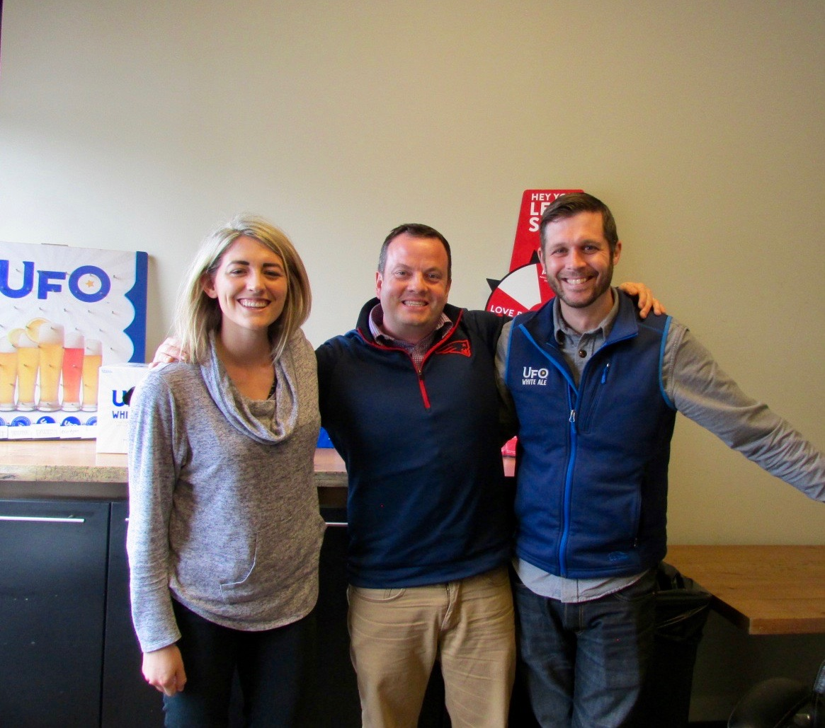 Pictured Left to Right: Well, me; Rich Ackerman, HR Director; Chris Bonacci, VP of Marketing