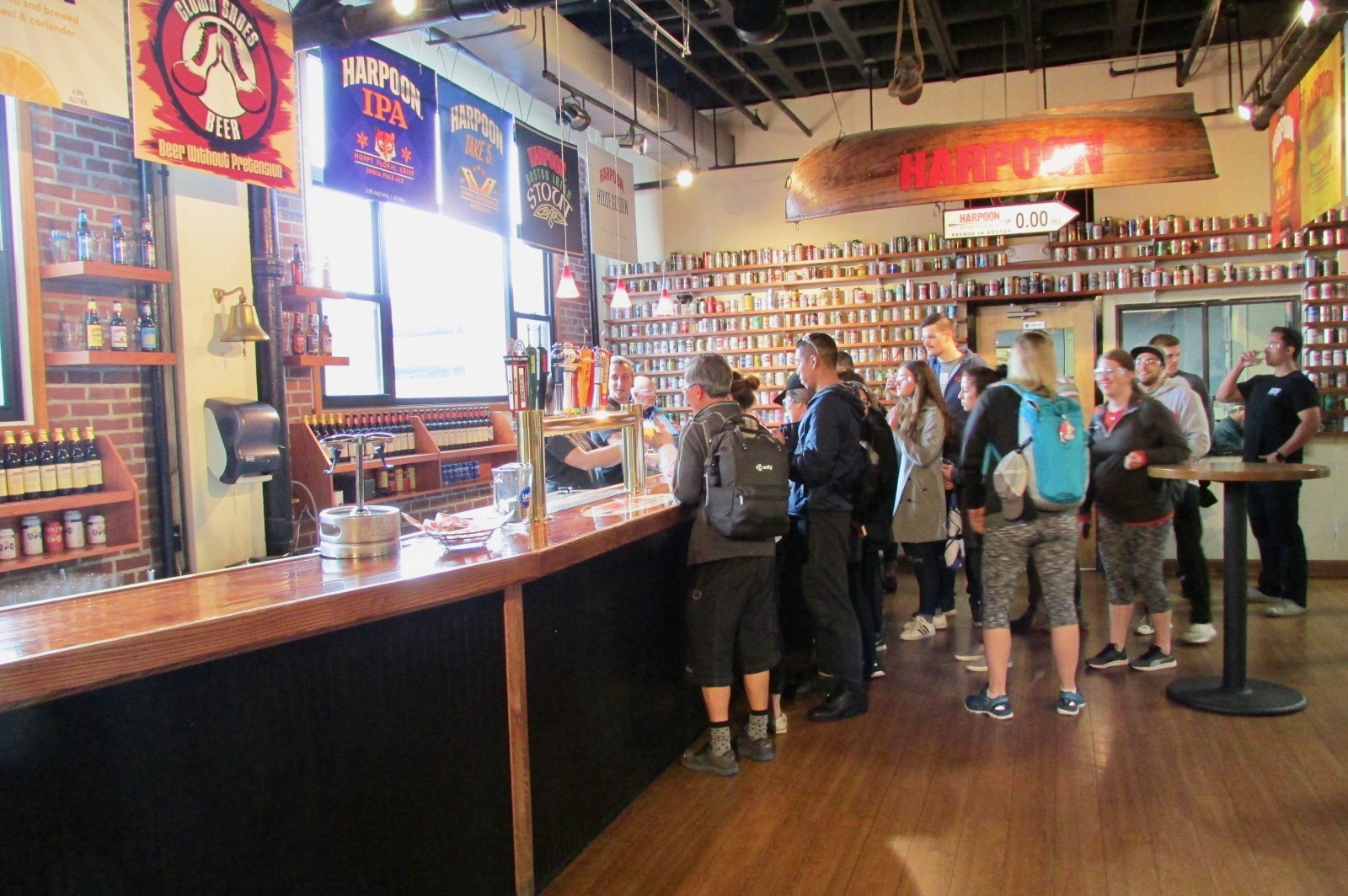 The best part of the Harpoon Tour-- tasting their beers.