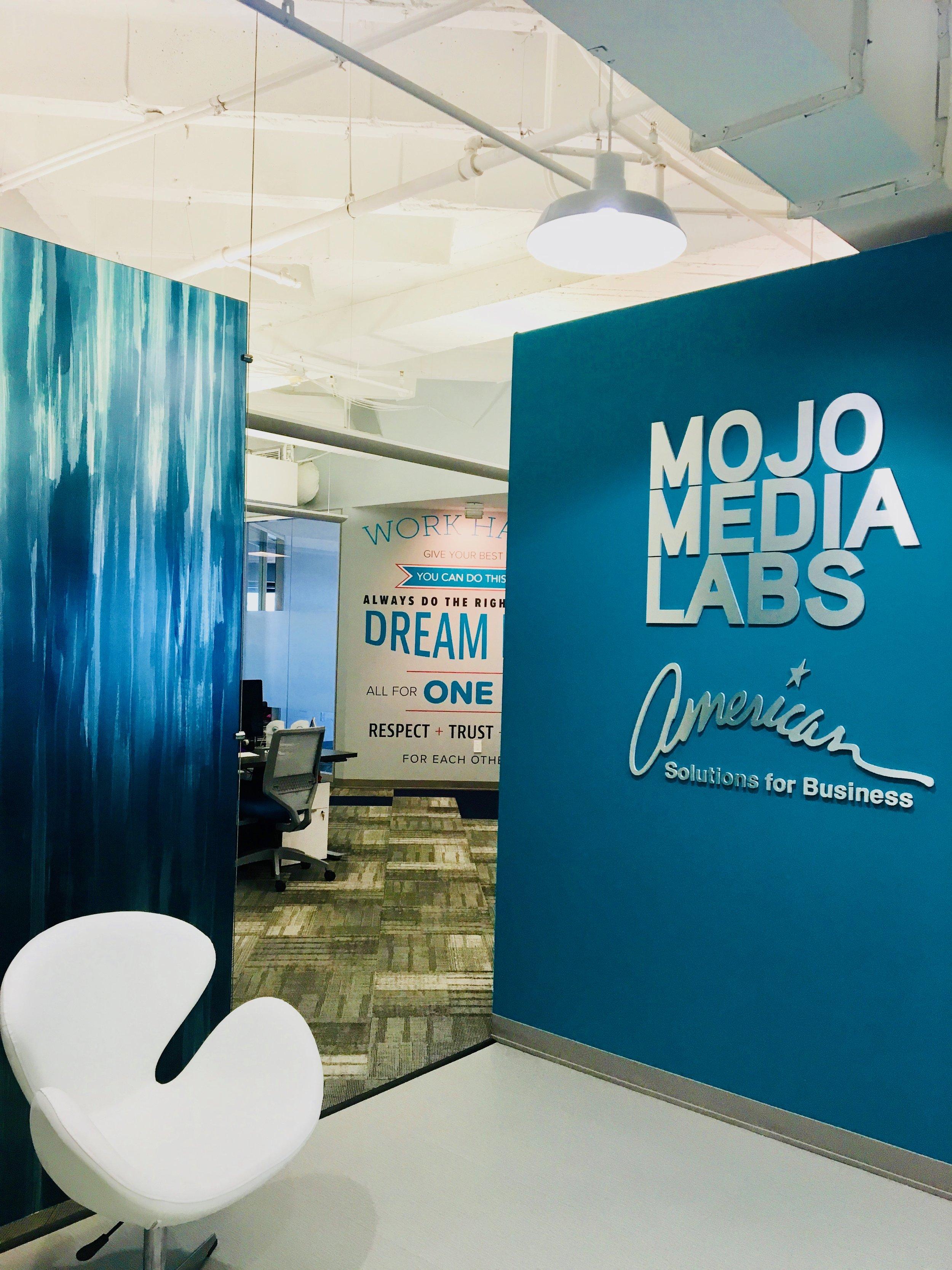 The entrance way into Mojo Media Labs
