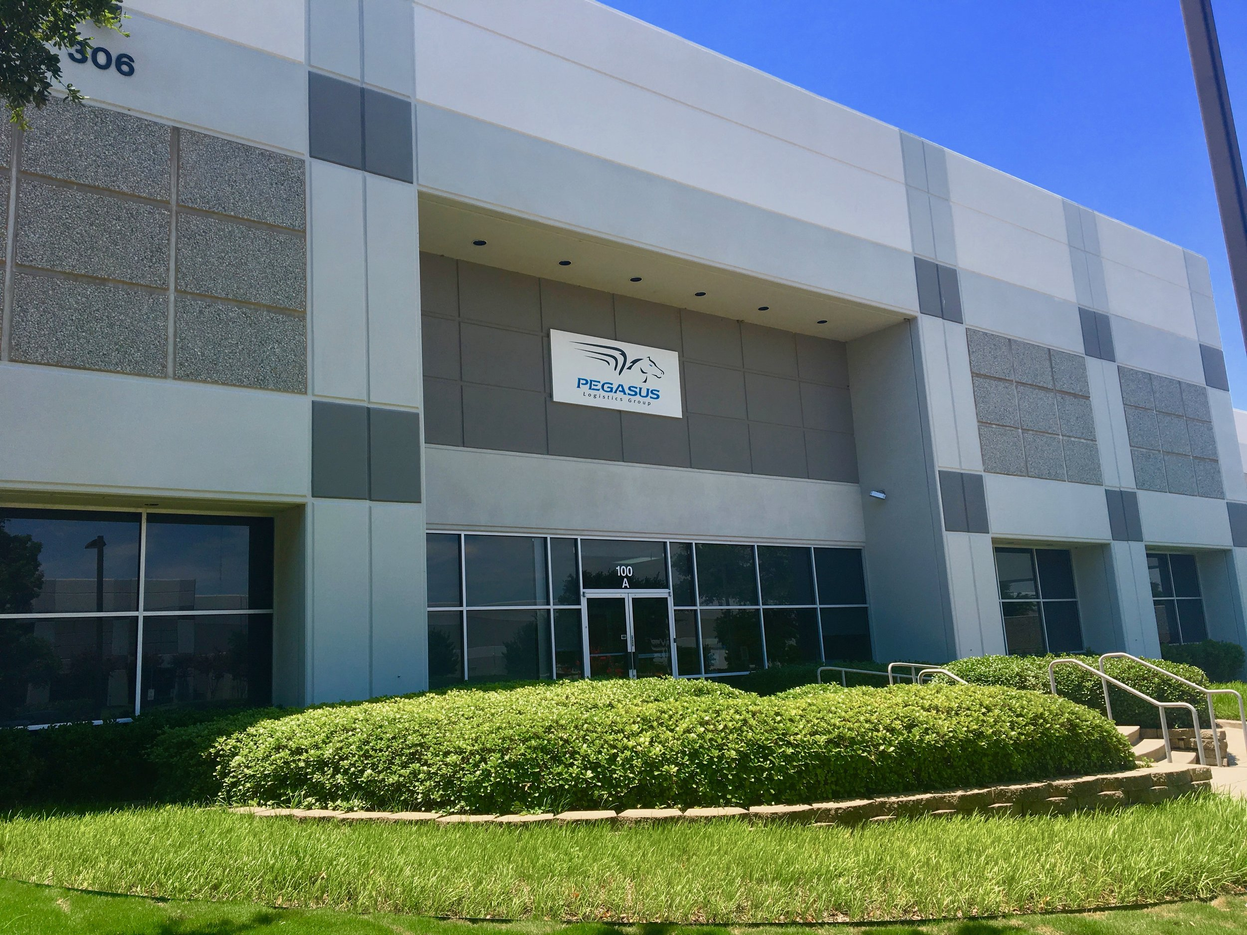 Entrance to Pegasus Logistics Group .