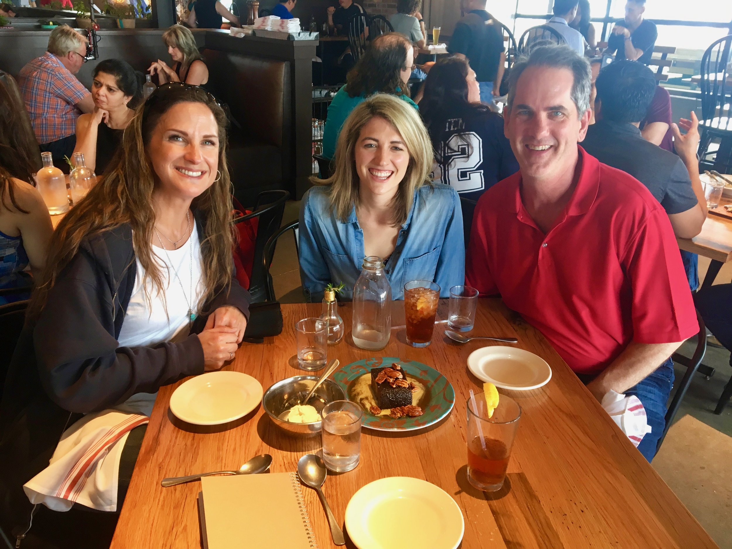 pictured left to right: Candice Gouge (VP of Talent & Engagement), Julia Kortberg (Touring with Purpose), and Lance Shipp (CFO)