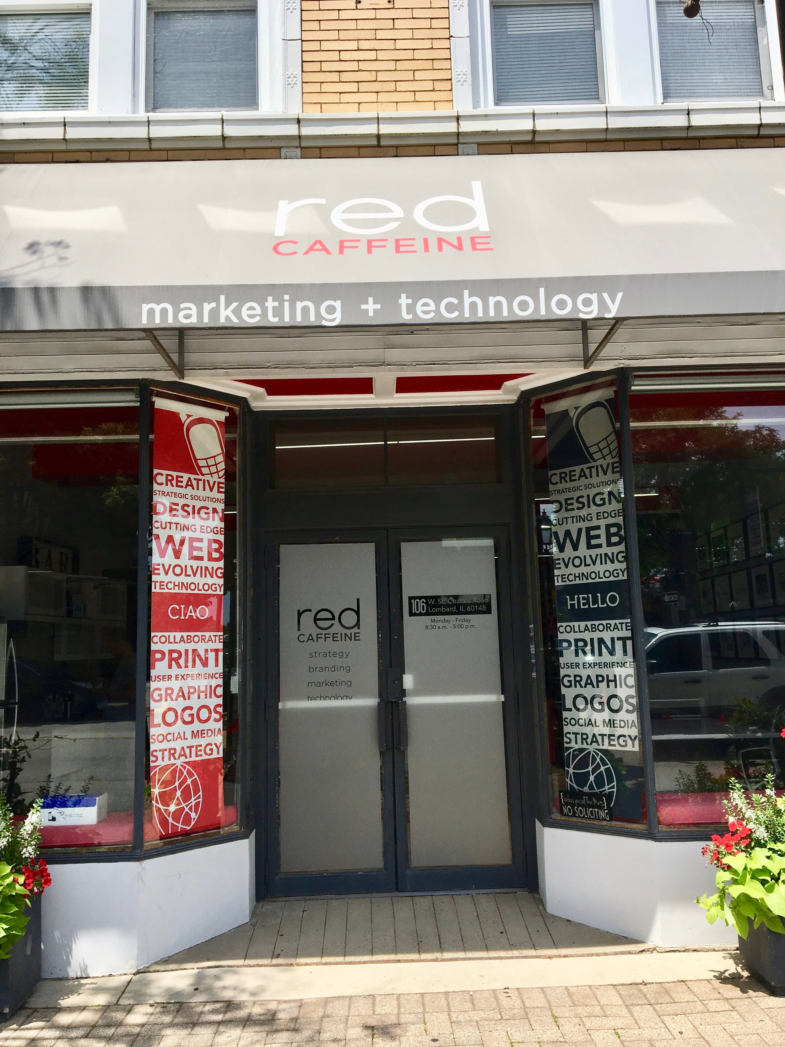 Red Caffeine Front Entrance