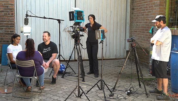 Filming of The Search for Aliveness. Photo courtesy of Tuthill.