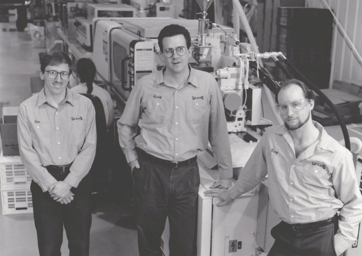 Co-Founders Jim Capo, Craig Carrel, and Gary Grigowski. Photo courtesy of Team 1 Plastics.
