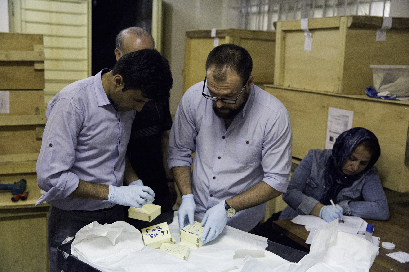 Field Director Alejandro Gallego Lopez, from the University of Chicago's Oriental Institute, leads a team of Afghan and international museum specialists and conservators who are cataloging thousands of artifacts from Hadda destroyed by the Taliban.