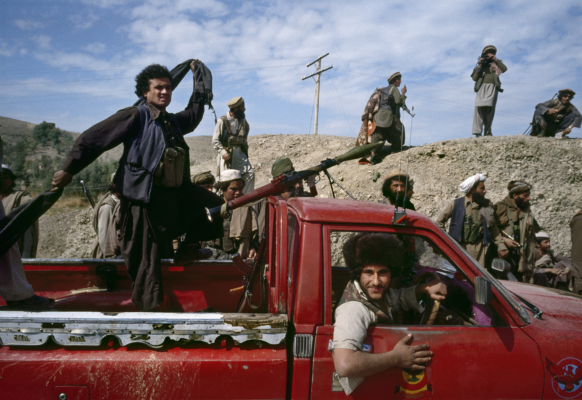 March 1989: Afghan mujahideen move toward the front line during the battle for Jalalabad, in eastern Afghanistan.