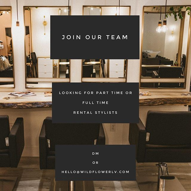 looking for one more stylist to join our super rad team! we have the best energy in our space and it's important for us to keep that going! We want someone who is looking to be a team player, part of our family, goal oriented, education fueled, creative, and kind! Reach out to us so we can have a cup of coffee together & meet you in person🌱. —————- #lasvegashairstylist #lasvegassalon #lasvegashair #lasvegashairsalon #hairlasvegas #lasvegasstylist