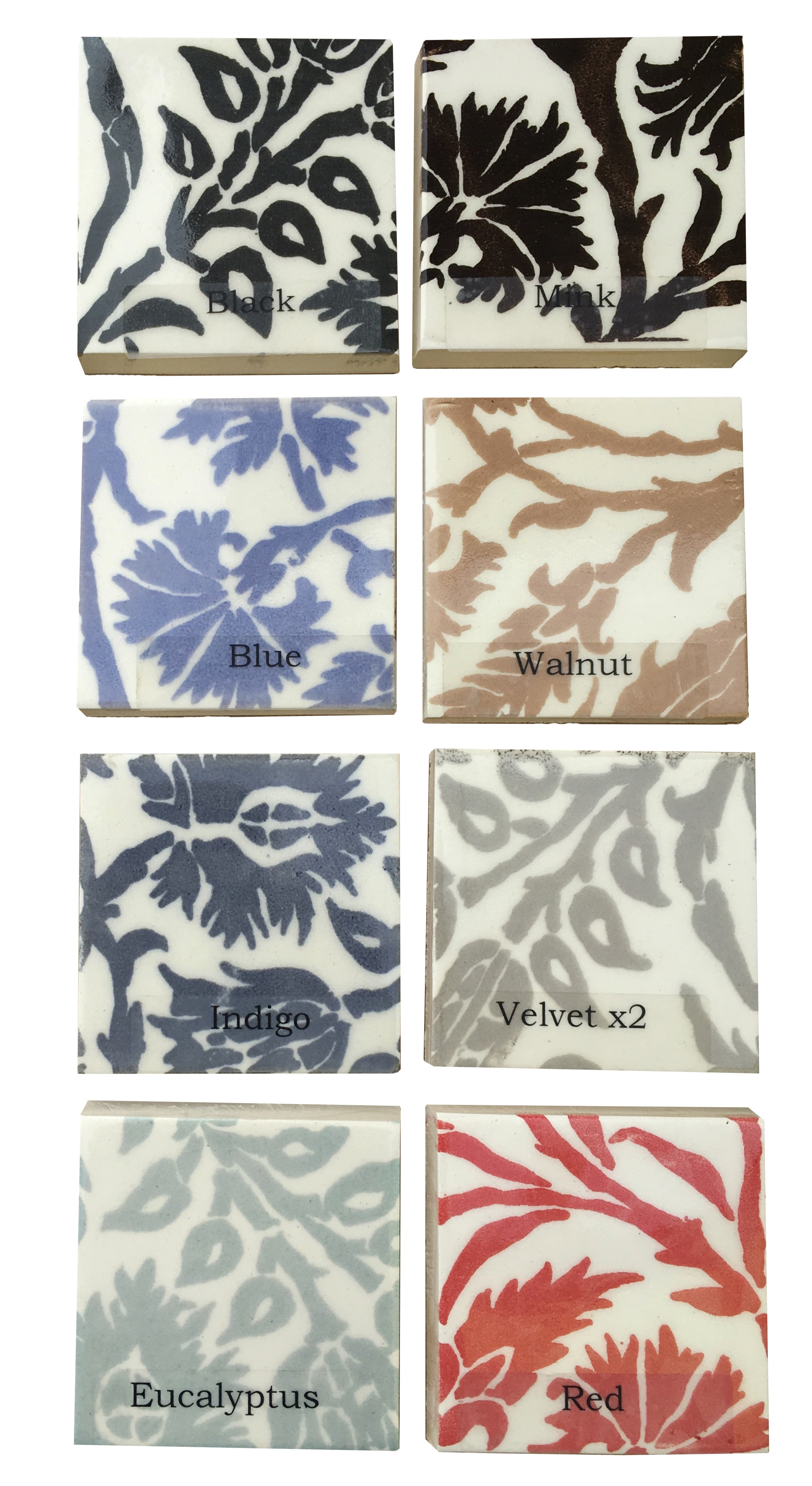 Print Color Options:  For any of our screen prints or tapestry tiles