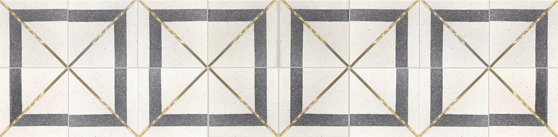 Inlay Brass Terrazzo : Basel Collection from Tabarka Studio