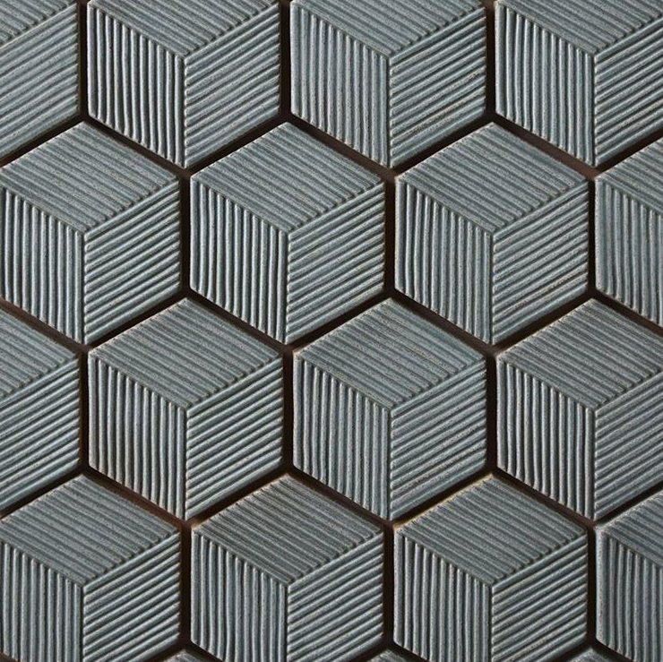 Monkeyworks - Dimensional hexagon tiles in earthy glazes. Made in Vancouver, WA.
