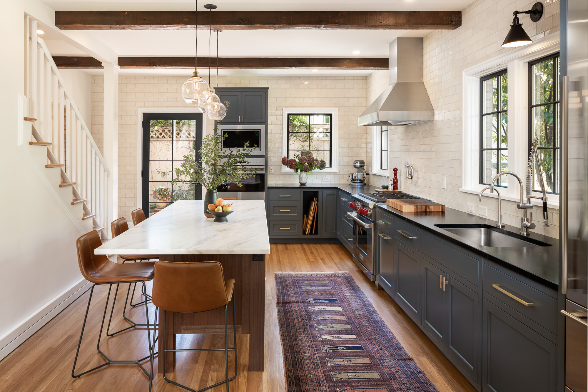 Tempest Tileworks 3x6 Dove Gloss / Kitchen Design: Molly Littlejohn Design / Photography: Spin Photography