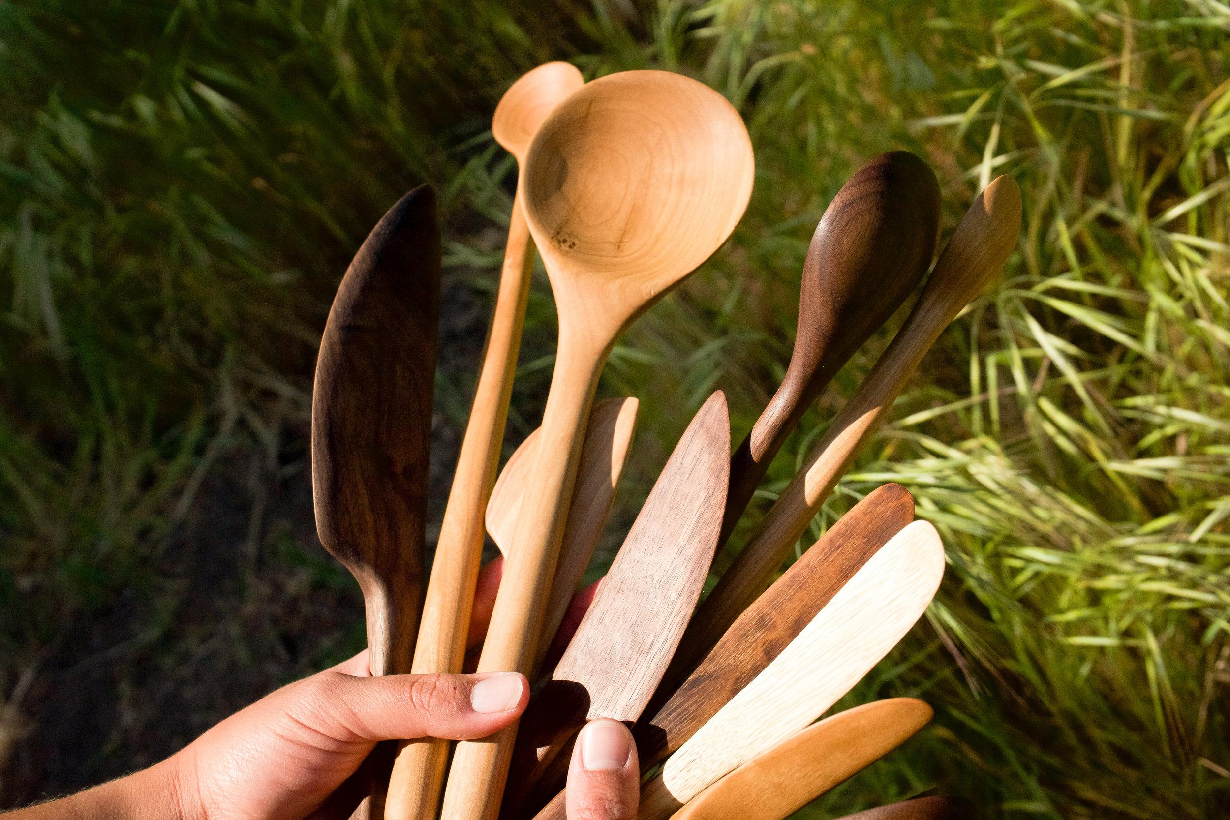 Assorted Wooden Utensils