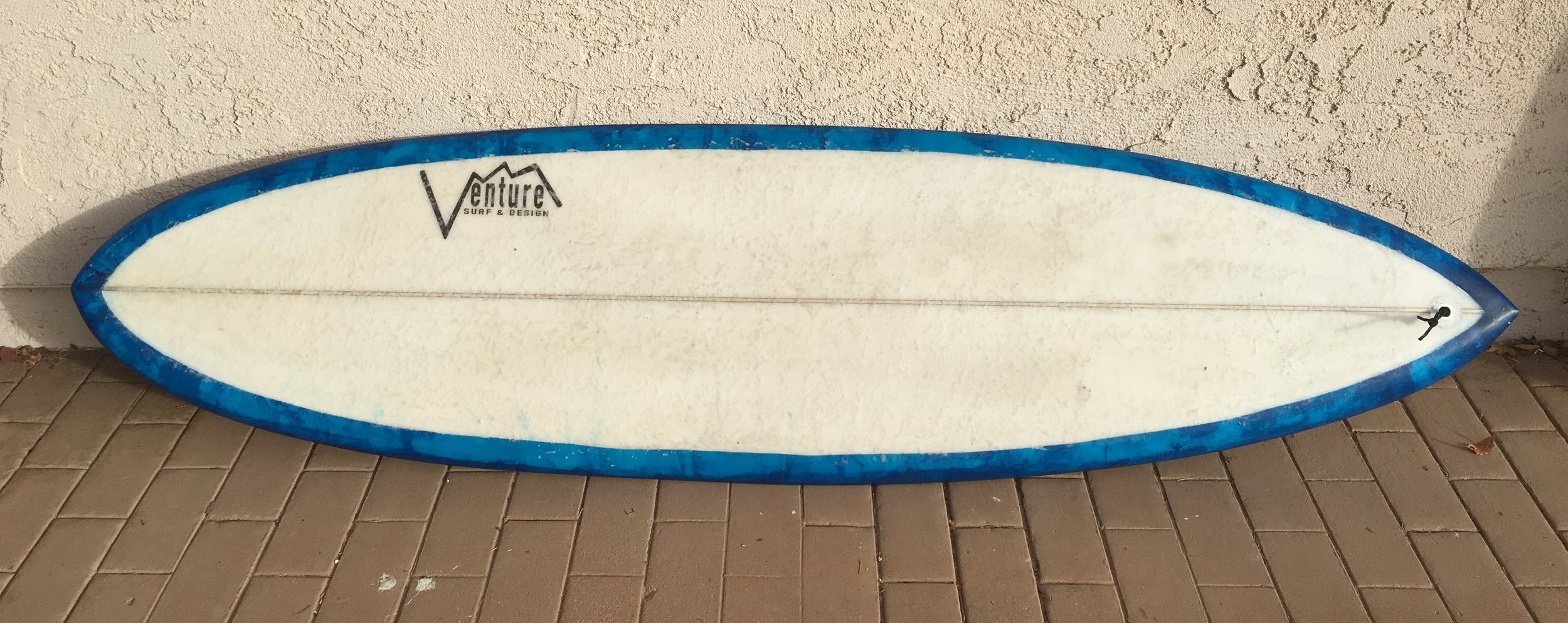 "6'7"" 80.OH quad channel glass on single fin"