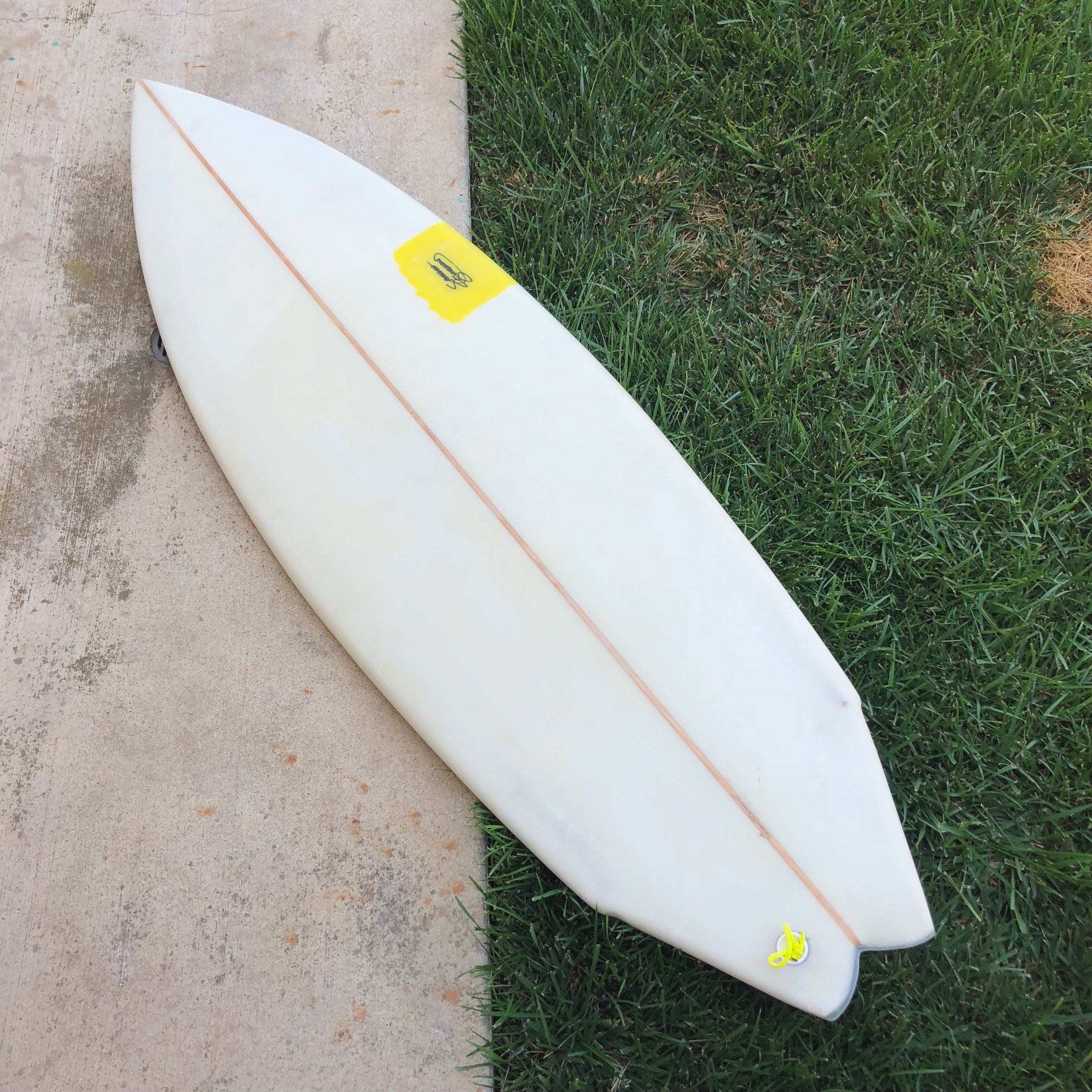 5'4 Two Step Twin Fin with futures