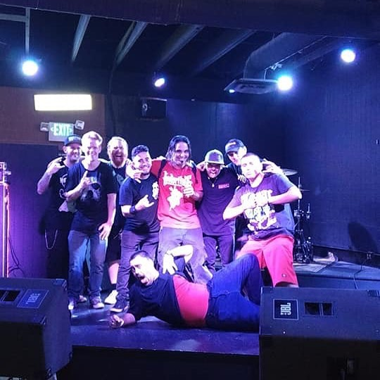 Just a bunch of @dirtbagclothing boys! Final shot of and @interfatemusic at the end of the #fateofthefiretour. We had a great run, can't wait to do it again! #dirtbag #tourlife #bandphotos #tour #fireglass #interfate