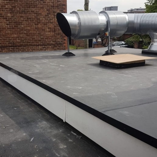 Rubber roof system installed at a commercial property in Warrington