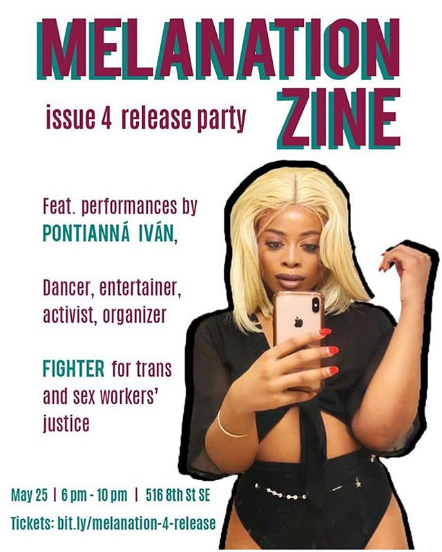Support our political home #byp100dc and GPC member @j.n.deloach with another rollout of @melanation.zine featuring artist @jekendriat and others !!!