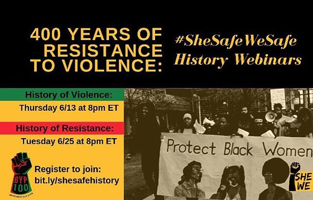 Who keeps us safe? We keep us safe ! Get plugged in today for this amazing webinar http://bit.ly/shesafehistory