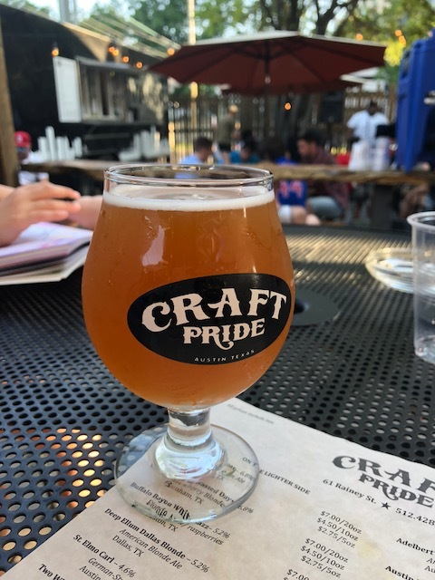 Fun times at the craft pride patio