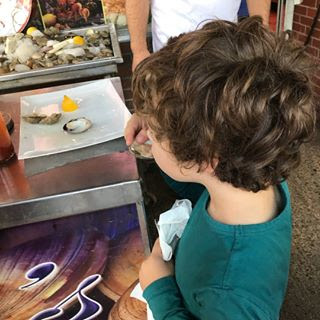 Raw bar on a city street is fun for all ages