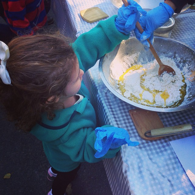 Making bread at the Stone Barns Harvest Fest