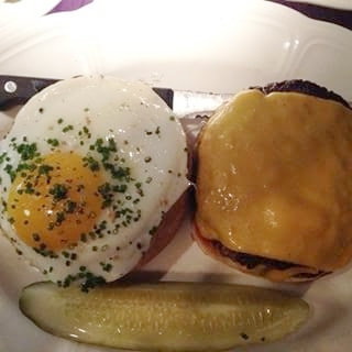 Au Cheval's Single Cheeseburger With Egg Added. The Single actually has two patties and the Double has three!