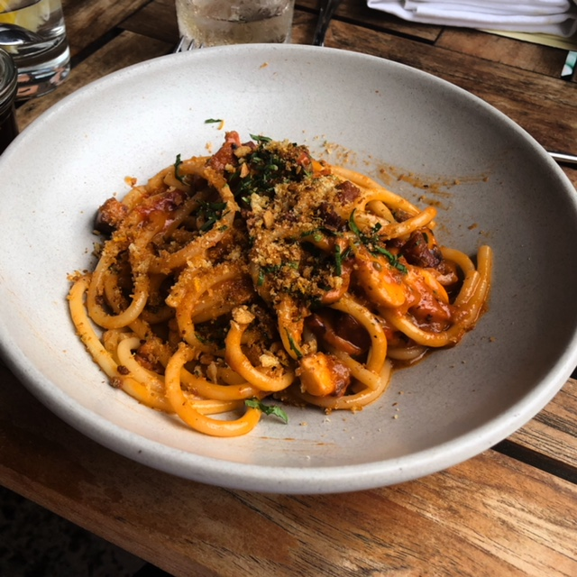 The Incredible Octopus All'Amatriciana at Charlie Bird