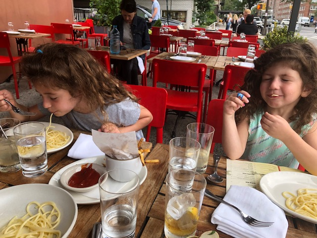 Minions enjoying their Charlie Bird buttered pasta