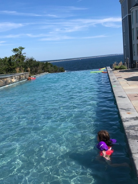 The Family Pool Also Faces the Ocean