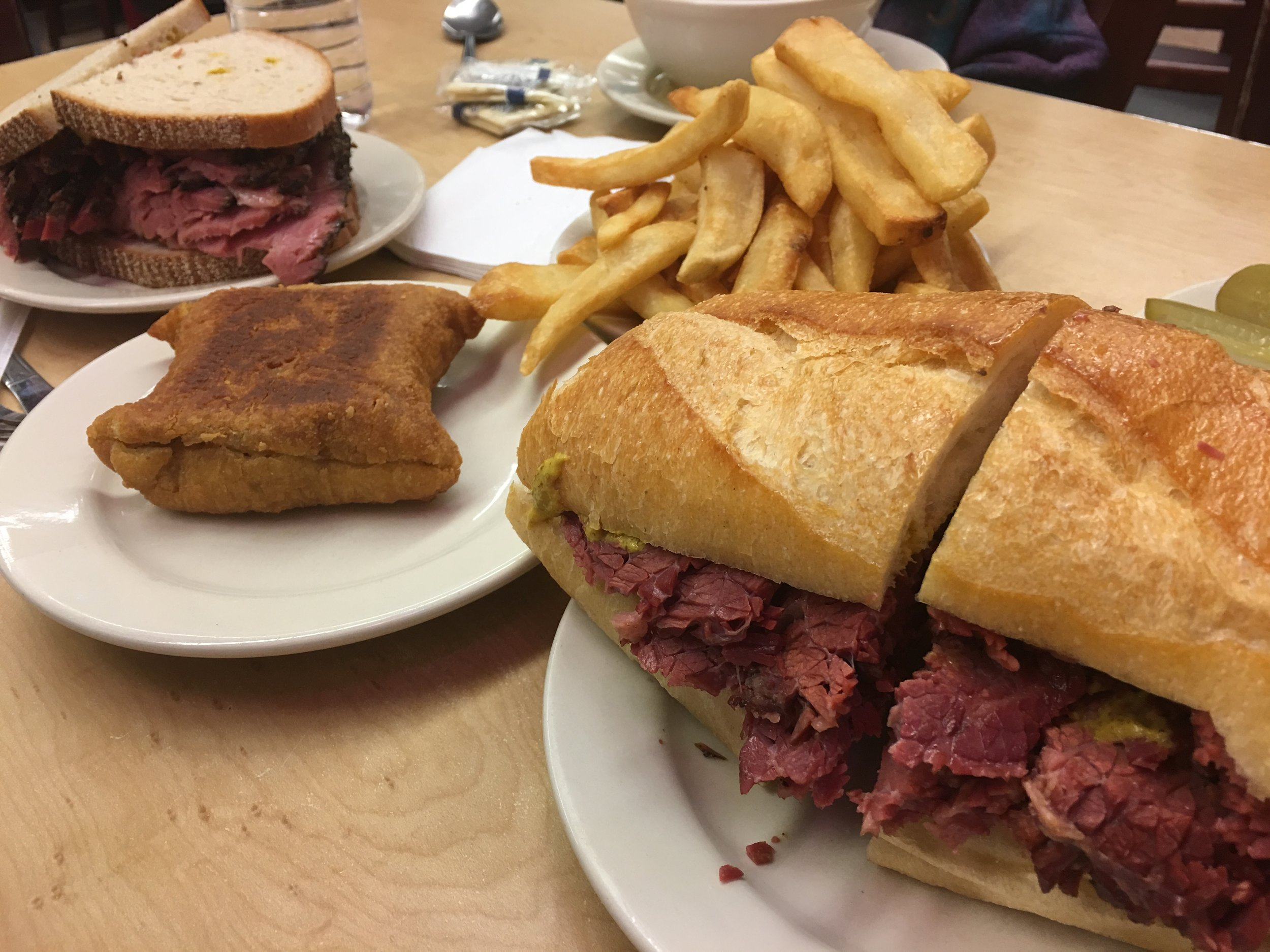 Pastrami, Square Knish, Fries. Yes, Please