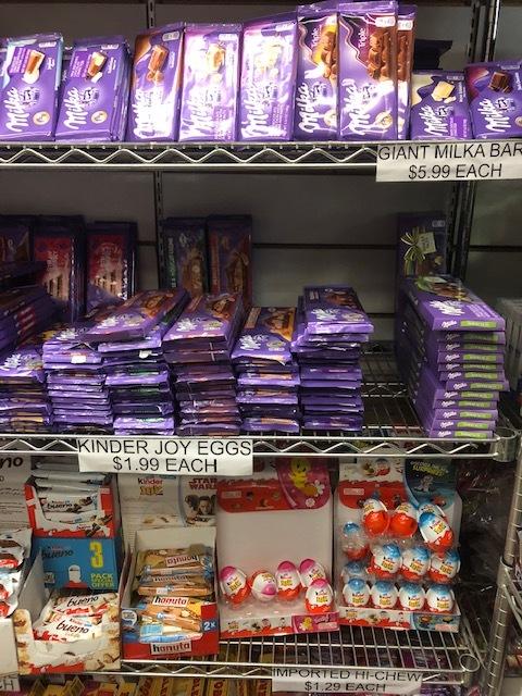 Swiss Milka Bars and Italian Kinder Eggs