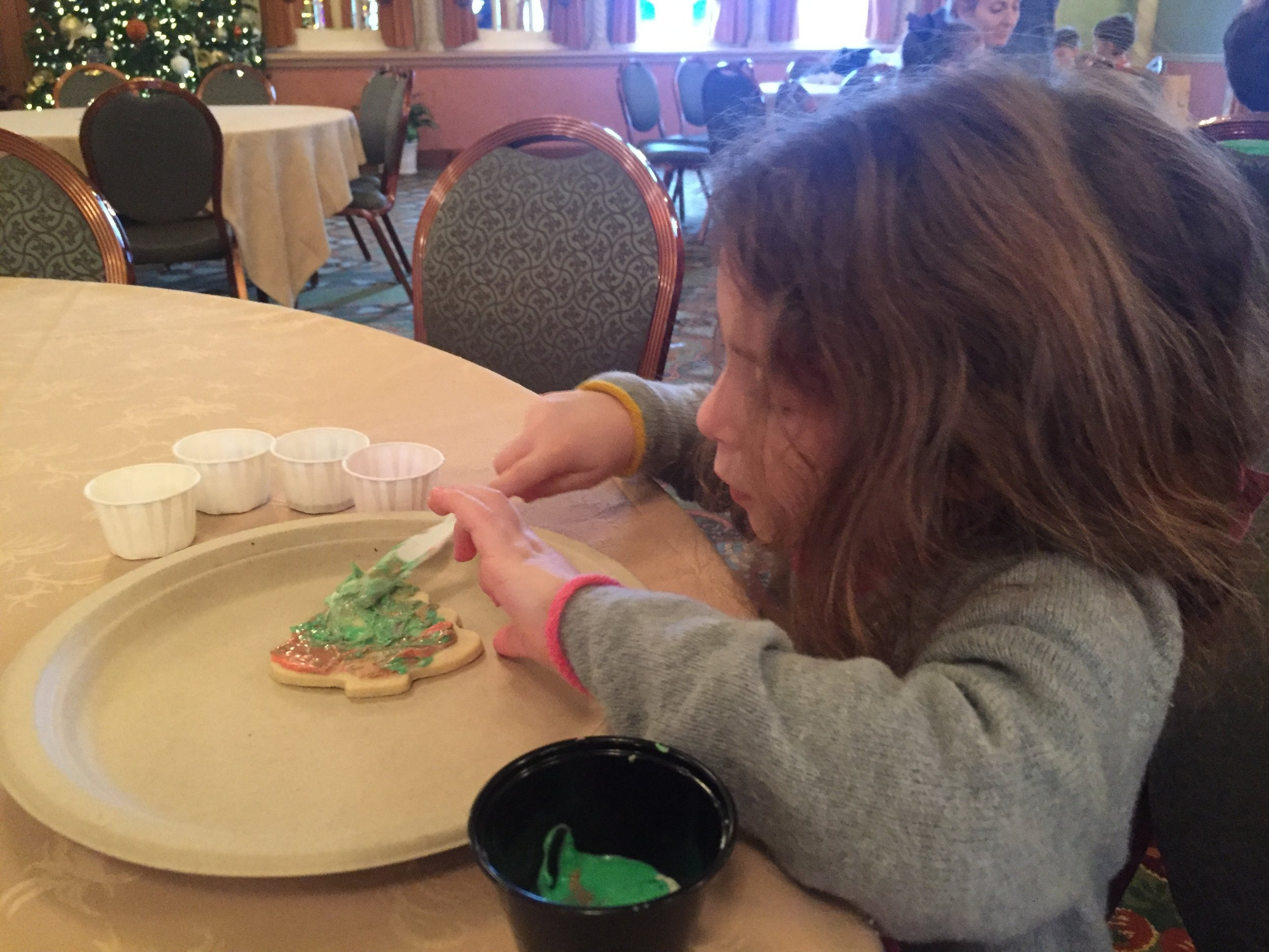 Cooking decorating at the Hershey Hotel