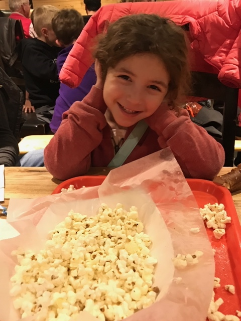 Popcorn and pretzels for the kids, beer for you!