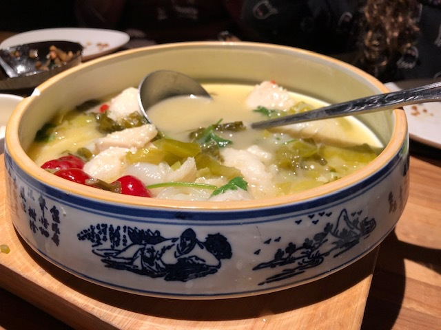 The Famous Chengdu Fish Soup is HUGE and meant for sharing (It's $17)