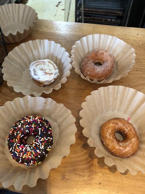 Donuts (And a Cinnamon Bun)