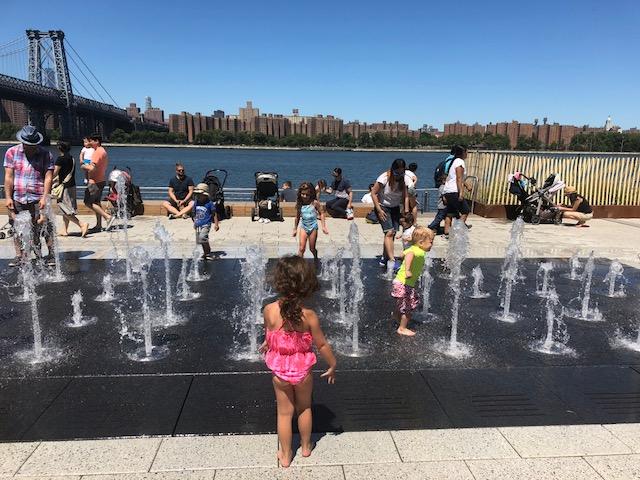 Domino Park - Beautiful new waterside playground in Williamsburg, Brooklyn.