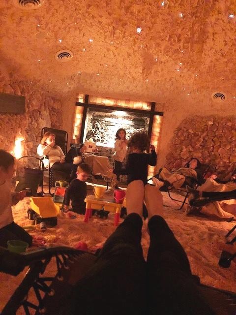 Relaxing at the Salt Cave of Darien