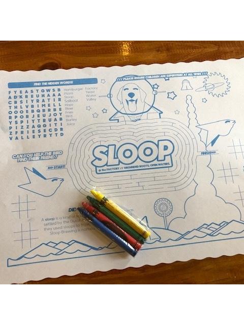 Kids Menus and Placemats +Crayons