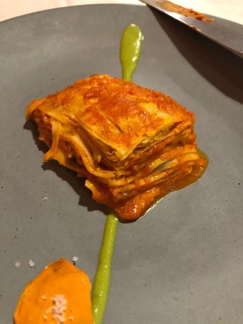 A Mexican Version of Lasagna at Nicos